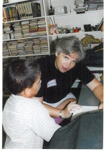 Janice serving at OCC in 2002.
