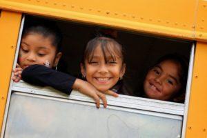 Girls on Schoolbus
